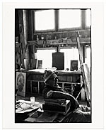 Harold Hugo in his studio