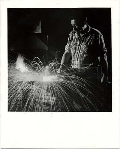 [L. Brent Kington in his workshop]
