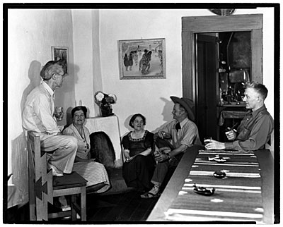 John Sloan, Teresa Bakos, Dolly Sloan, Will Shuster, and Josef Bakos at Sloans Santa Fe Ranch