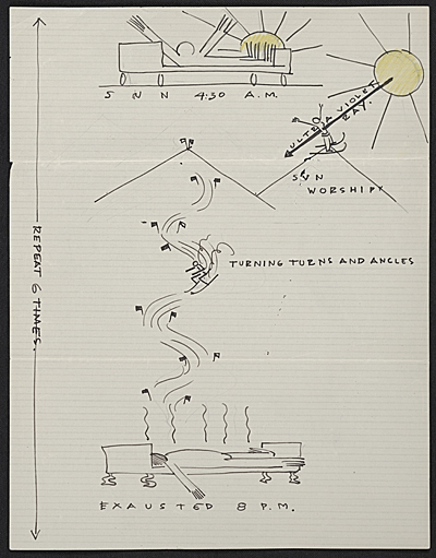 [Eero Saarinen illustrated diagram to Florence Knoll Bassett]