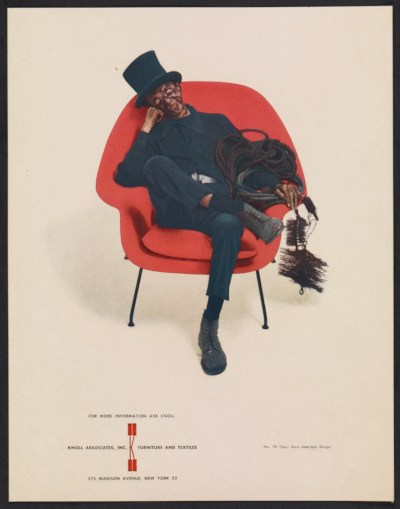 Knoll Associates advertisement featuring the No. 70 chair by Eero Saarinen.