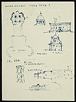 [Eero Saarinen sketches depicting the history of architecture ]