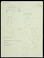 [Eero Saarinen sketches depicting the history of architecture verso ]