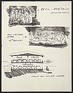 [Eero Saarinen travel sketches to Florence Knoll Bassett 2]