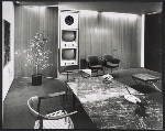 A storage wall in a CBS office that was designed by Florence Knoll Bassett
