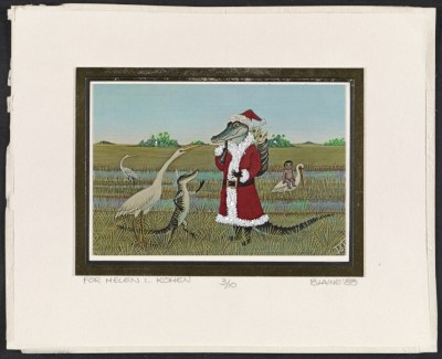Blaine Christmas card to Helen L. Kohen