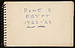 Adolf Ferdinand Konrad sketchbook of travels to Rome and Egypt