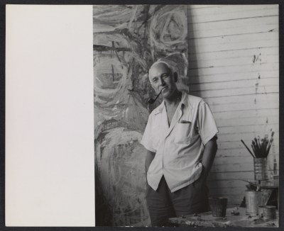 Samuel Kootz in his studio