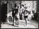 Samuel Kootz, Pablo Picasso, and Jane Kootz in Picassos studio
