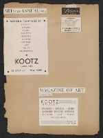[Kootz Gallery scrapbook no. 5 page 6]