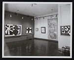 Installation view of Robert Motherwell: Paintings, drawings, and collages at the Kootz Gallery