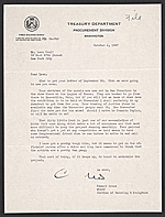 [Edward Bruce, Washington, D.C. letter to Leon Kroll ]