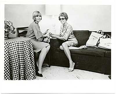 [Joan Kron and Audrey Sabol seated during a NY times interview]