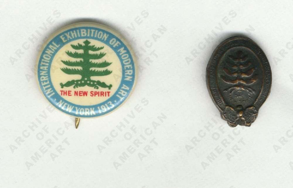 Armory show button and lapel pin, 1913