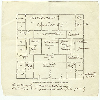 Armory Show floor plan, 1912 Oct.