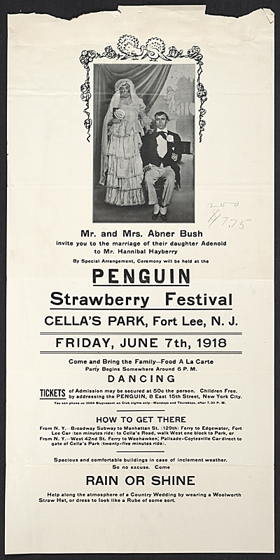 Flyer for the Penguin Clubs Strawberry Festival