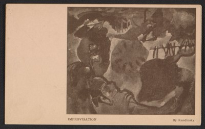 Armory Show postcard with reproduction of Wassily Kandinskys painting Improvisation