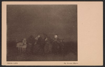 Armory show postcard with reproduction of Jerome Myers painting Their life