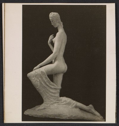 [Photo reproduction of Wilhelm Lehmbruck's sculpture Kneeling woman]