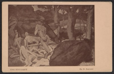 [Armory show postcard with reproduction of André Dunoyer de Segonzac's painting Une bucolique]