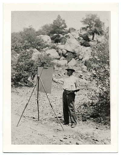 Walt Kuhn painting outdoors