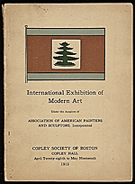 Exhibit catalog for the International Exhibition of Modern Art at the Copley Society of Boston