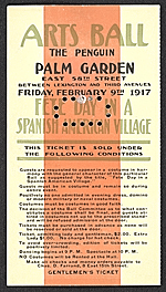 Arts ball, the Penguin, Palm Garden ... gentlemens ticket