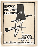 Flyer for Horace Brodzky exhibition