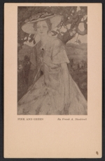 Armory Show postcard with reproduction of Frank A. Nankivells painting Pink and Green