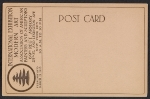 [Armory Show postcard with reproduction of Constantin Brancusi's sculpture Portrait of Mlle Pogany verso 1]