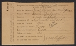 Armory Show entry form for Henri Rousseau's painting Cheval attaqué par un Jaguar