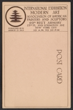 [Armory show postcard with reproduction of a bronze sculpture by Manolo verso 1]