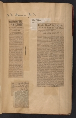 [Walt Kuhn scrapbook of press clippings documenting the Armory Show, vol. 1 pages 10]