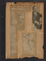 [Walt Kuhn scrapbook of press clippings documenting the Armory Show, vol. 2 pages 33]