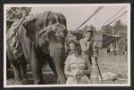 Barnum & Bailey Circus performers and a show elephant