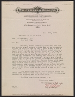 A letter from W. D. Loweree of The Whitehead & Hoag Co. to Walt Kuhn