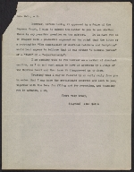 A letter from John Quinn to Secretary of State of New York Edward Lazansky