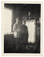 Walt and Brenda Kuhn in his studio in Maine