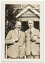 Walt Kuhn and an unidentified man in Europe