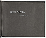 [Walt Kuhn photograph album, Nova Scotia title page ]