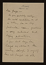 Yasuo Kuniyoshi letter to George Biddle