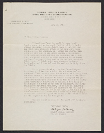 Holger Cahill letter of reference for Yasuo Kuniyoshi