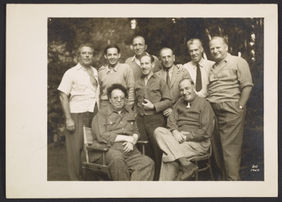 [Lucien Labaudt, Diego Rivera, and others]