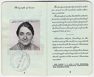 Marcelle Labaudts Passport