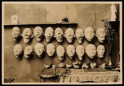 WWI soldier facial reconstruction casts and masks