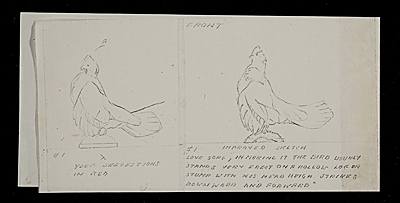 [Sketches of five turkeys on logs]