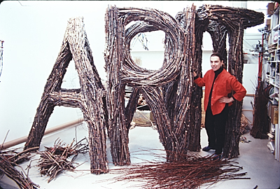 Gyongy Laky with Art sculpture slide