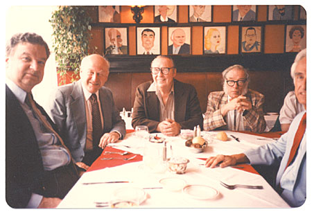 [Group of Men at Sardi's Restaurant]