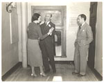 [Abril Lamarque with dance instructor Arthur Murray and female ]