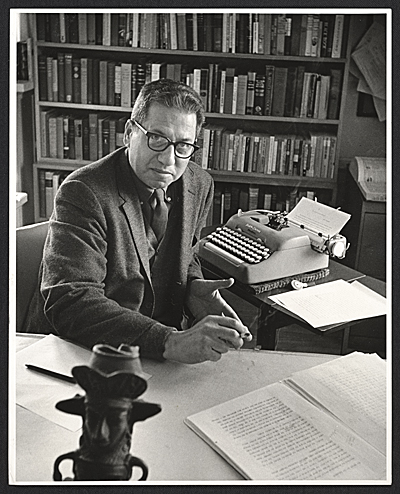 Jules Langsner at his desk